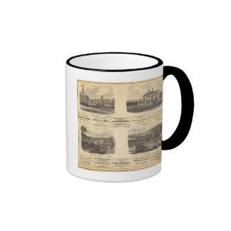 Campos petrolíferos residencia taza de café