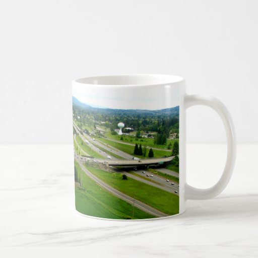 Campos verdes tazas de café