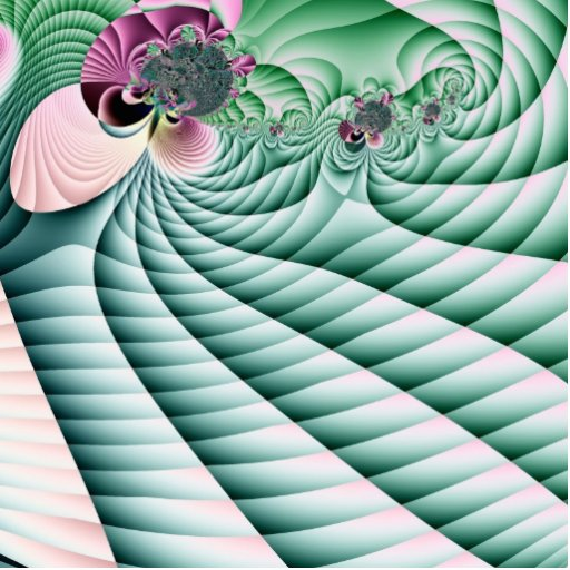 Campos y fractal de las flores fotoescultura vertical
