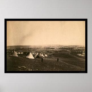 Campos y la brigada ligera 1855 de la guerra crime poster