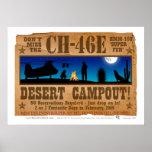 Campout del desierto CH-46 Poster