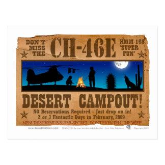 Campout del desierto CH-46 Tarjeta Postal