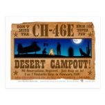 Campout del desierto CH-46 Tarjetas Postales