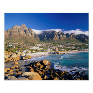 Camps Bay Beach And The Twelve Apostles Range Poster
