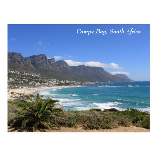 Camps Bay Beach, South Africa Post Card