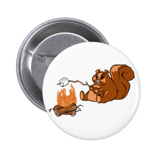 Campsite Beaver Button