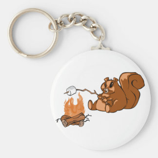 Campsite Beaver Keychain