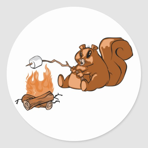 Campsite Beaver Round Sticker