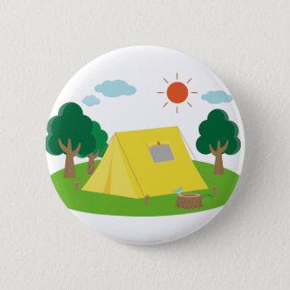 Campsite Cartoon Button