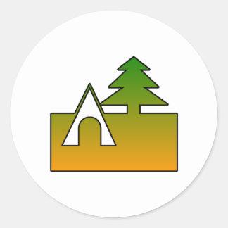 Campsite Round Stickers