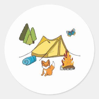 Campsite Round Sticker