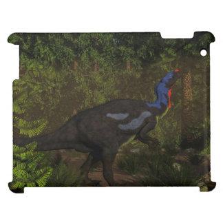 Camptosaurus dinosaur eating - 3D render iPad Case