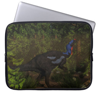 Camptosaurus dinosaur eating - 3D render Laptop Sleeve