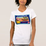 Campus Brand Lemons ~ Vintage Fruit Crate Label T-Shirt