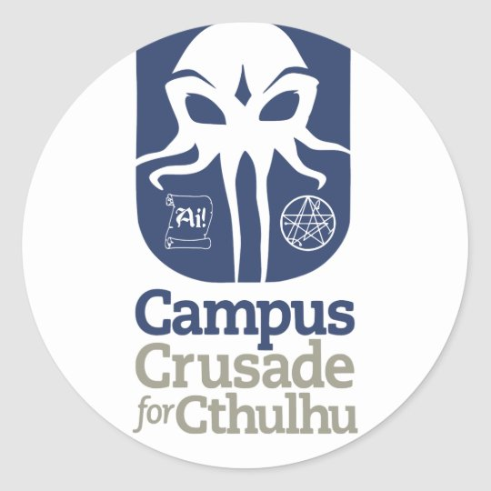 Campus Crusade for Cthulhu Classic Round Sticker