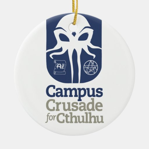 Campus Crusade for Cthulhu Double-Sided Ceramic Round Christmas Ornament