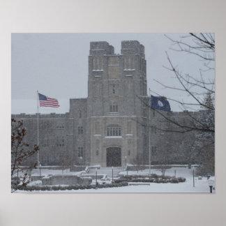 Campus in Winter Design #1 Poster