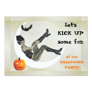 Campy Frankenstein Mama Halloween Party 5x7 Paper Invitation Card