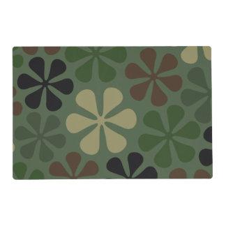 Camuflaje abstracto de las flores tapete individual