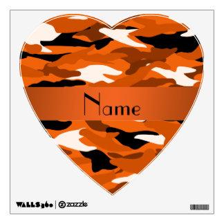 Camuflaje anaranjado conocido personalizado vinilo decorativo