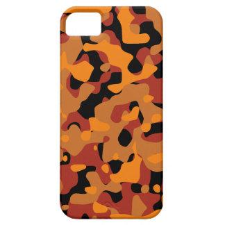 Camuflaje anaranjado del cazador iPhone 5 fundas
