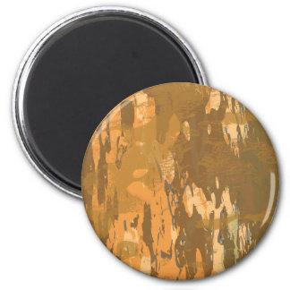 Camuflaje árido de la corteza del desierto imán redondo 5 cm