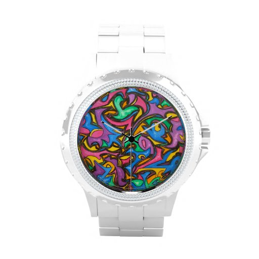Camuflaje - arte abstracto relojes