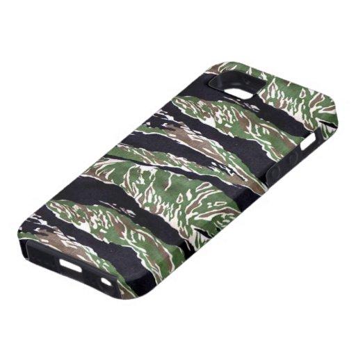 Camuflaje asiático de la raya del tigre iPhone 5 carcasa
