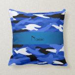 Camuflaje azul conocido personalizado almohadas
