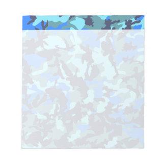 Camuflaje azul libretas para notas