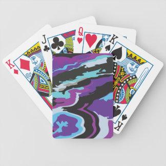 Camuflaje azul púrpura baraja de cartas bicycle