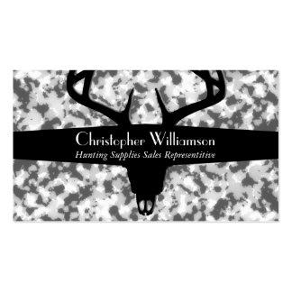 Camuflaje blanco y gris negro tarjetas de visita