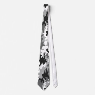 Camuflaje blanco y negro corbata personalizada