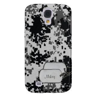 Camuflaje blanco y negro de Digitaces con la etiqu Funda Para Galaxy S4