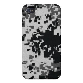 Camuflaje blanco y negro i de Digitaces iPhone 4 Fundas