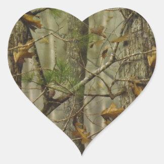 Camuflaje clásico pegatinas de corazon personalizadas