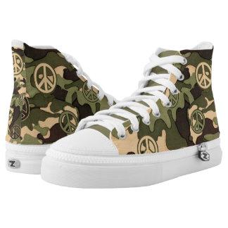 Camuflaje con los signos de la paz en aceituna zapatillas