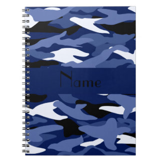 Camuflaje conocido personalizado de los azules mar libro de apuntes