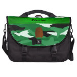 Camuflaje conocido personalizado del verde de Bigf Bolsas Para Portatil