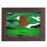 Camuflaje conocido personalizado del verde de Bigf Caja De Recuerdos