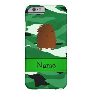 Camuflaje conocido personalizado del verde de funda de iPhone 6 barely there