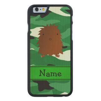 Camuflaje conocido personalizado del verde de funda de iPhone 6 carved® de arce