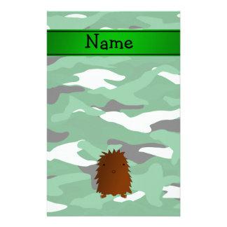 Camuflaje conocido personalizado del verde de papelería personalizada