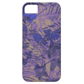 Camuflaje contra la flor azul funda para iPhone 5 barely there