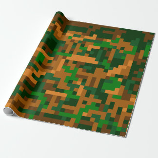 Camuflaje de 8 pedazos papel de regalo