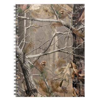 Camuflaje de Camo que caza el cuaderno real del ca