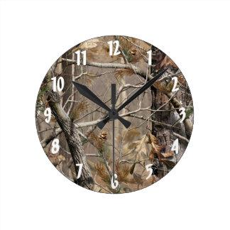 Camuflaje de Camo que caza el reloj de pared real