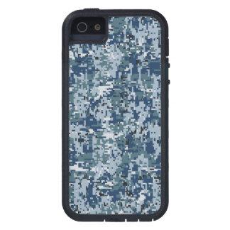 Camuflaje de Digitaces Camo de los azules marinos iPhone 5 Fundas