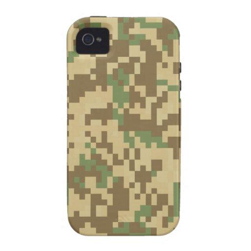 Camuflaje de Digitaces del desierto Case-Mate iPhone 4 Carcasas