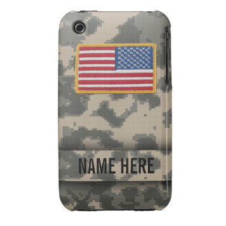 Camuflaje de Digitaces del estilo del ejército Case-Mate iPhone 3 Cárcasa